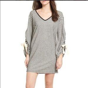 Everly striped tunic dress